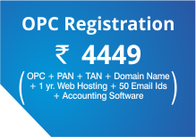 OPC registration @ Rs 4449 click here